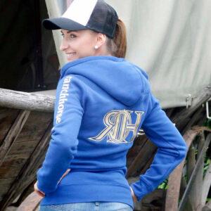 Sweatjacke Ladies Rücken + Ärmel bestickt